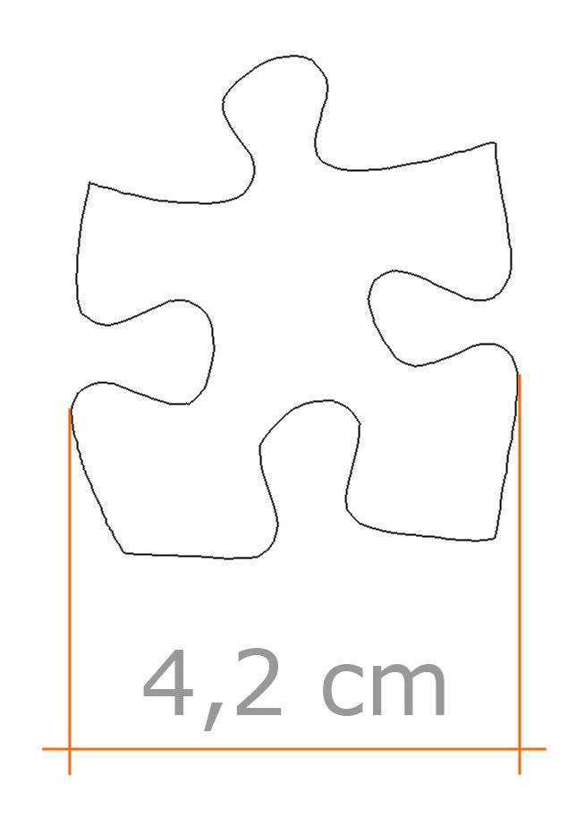 Dimensione puzzle pezzi grandi