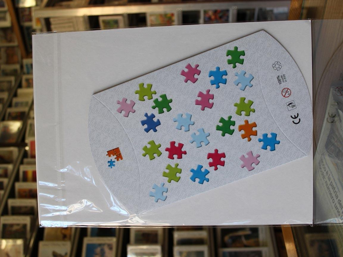 Puzzle da colorare per bambini retro