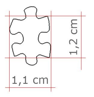 Dimensioni microtessera ruzzle